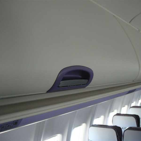 Bin Door painted with HSH IP1065B thanks to FAA/EASA Paint Certification