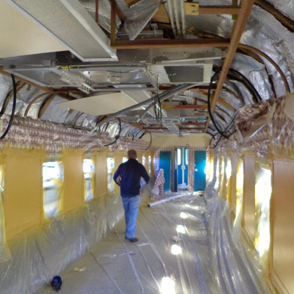 Passenger car masked / Yellow sidewalls painted